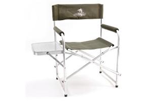 Кресло складное Кедр алюминий со столик. 56х57х47 см, высота  83 см. Труба алюминий 22х1,2 мм. AKS-06