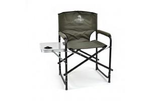 Кресло складное Кедр алюминий со столиком с подстаканником