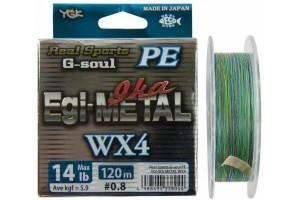 YGK G-SOUL PE Egi-METAL WX4 120m