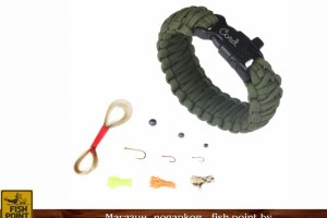 Браслет King Cobra Olive с рыболовным набором